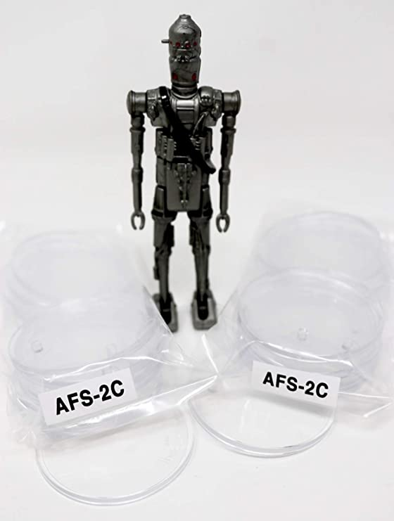 """STAR WARS DISPLAY STANDS-VINTAGE ACTION FIGURES CLEAR 1/"""" NARROW 20 40 60 100 T1c"""