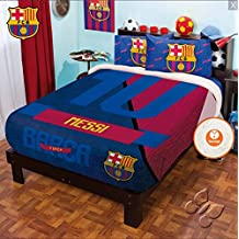 MESSI BARCELONA FOOTBALL CLUB ORIGINAL LICENSED FUZZY FLEECE BLANKET 8 PCS FULL