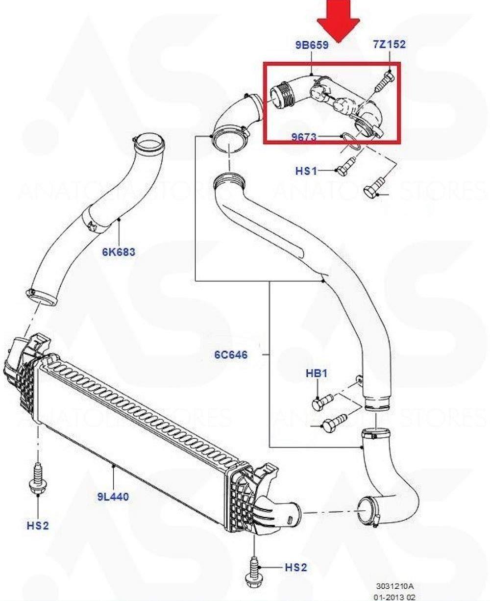 Manguera de tubo de admisión Air Turbo para Ford C-Max Focus Mk2 1.6 TDCi 1465155