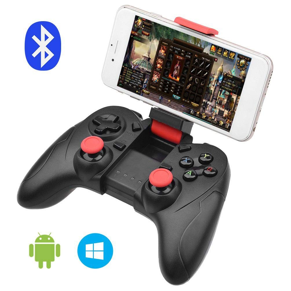 HWZDQLK Bluetooth Game Controller Wireless Gamepad Rechargeable Phone Controller with Vibrating Function, Compatible with Android, Tablet, TV, TV Box, VR