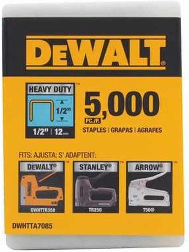 STAPLE 1//2 T-50 5000PK by DEWALT MfrPartNo DWHTTA7085