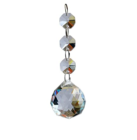 Moooni 10 Pcs Clear Crystal Ball Chandelier Prisms Glass Pendant