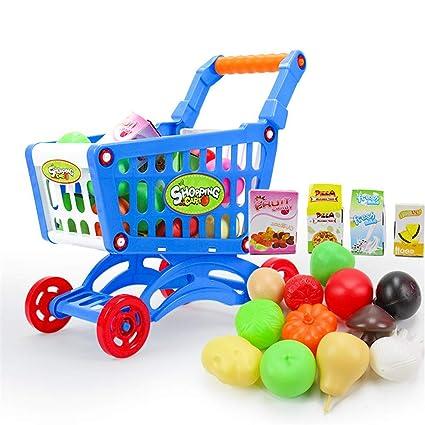 ChenYongPing Juguetes interactivos para niños Carro de la Compra del supermercado del Juego de los niños