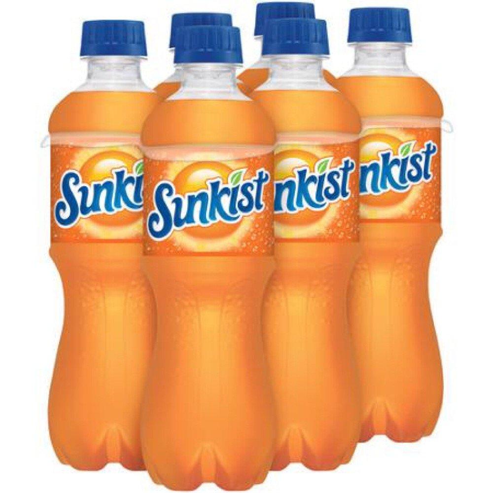 Sunkist Orange Soda, 16.9 oz Bottle (Pack of 24)