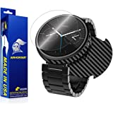 ArmorSuit MilitaryShield - Motorola Moto 360 Screen Protector [1st Gen] and Black Carbon Fiber Full Body Skin with Lifetime Replacements (Released 2014)