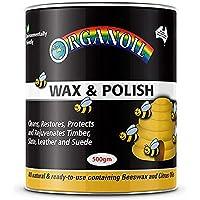 Organoil Beeswax Natural Wax & Polish 500gm, Clear