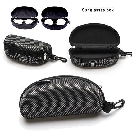 770e67fc175 Amazon.com  Protector Box,LtrottedJ Portable Zipper Eye Glasses Sunglasses  Clam Shell Hard Case Protector Box  Office Products