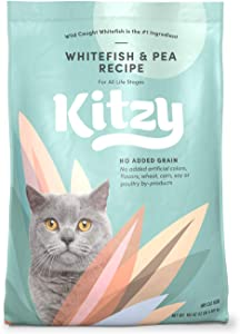 Kitzy Dry Cat Food by Amazon, Whitefish and Pea Recipe (12 lb bag)