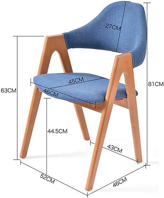 WYYY silla de Oficina Silla del Comedor Marco De Madera Maciza ...
