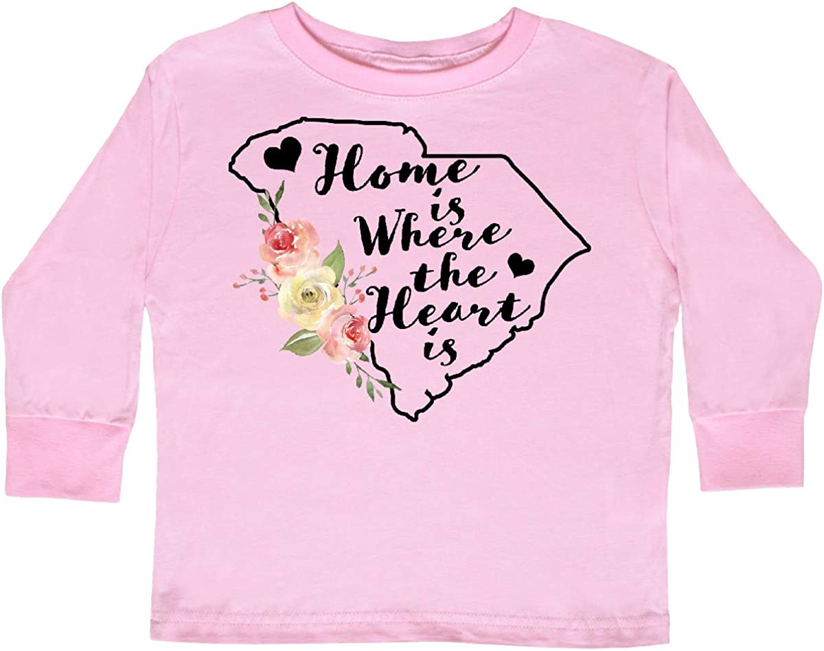 inktastic South Carolina Home is Where The Heart is Toddler Long Sleeve T-Shirt