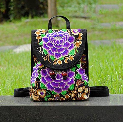 Bolsa de hombro del bolso / lona de las señoras del hombro bordado ( Color : 6# ) 3#