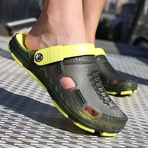 estivi verde scuro A spiaggia viaggio giocare in scarpe Il semi pantofole acqua da da fankou foro Baotou scarpe 41 trascinato scarpe sandali uomini traspirante spiaggia SFXxnBwgqx