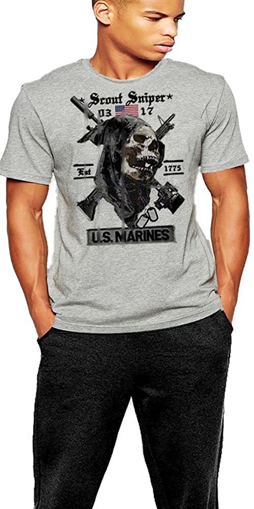 USMC Scout Sniper T-shirt US Marines 0317 T-shirt By Warface Apparel