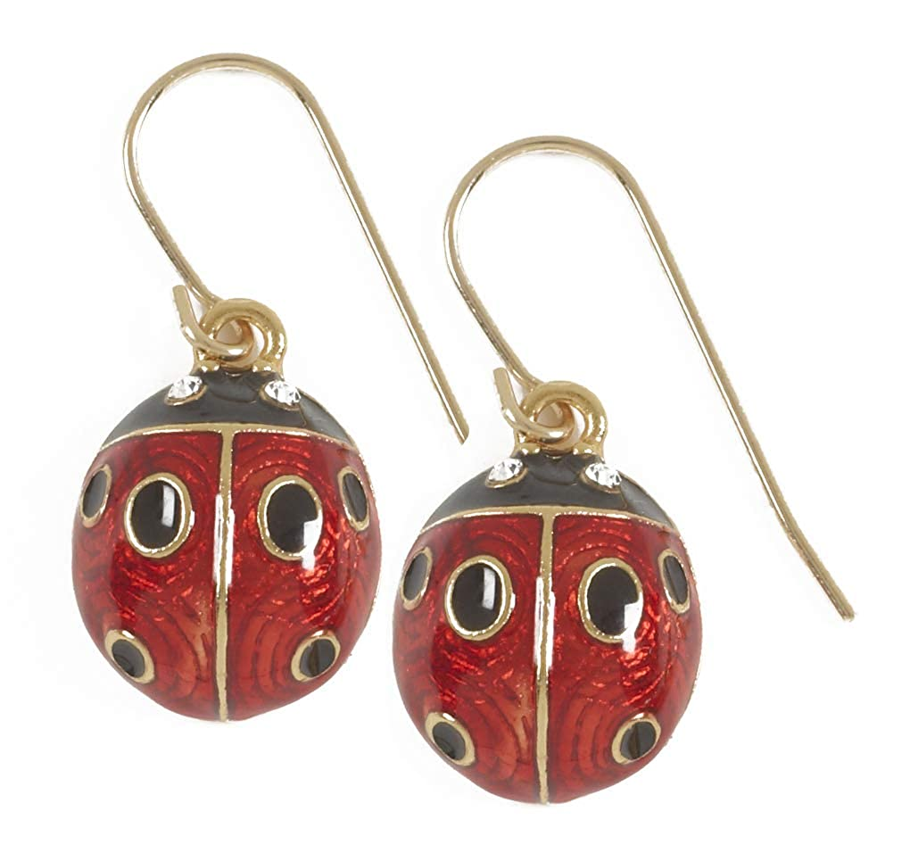 New from Our Museum Egg Colletion Ladybug Very Small Earrings