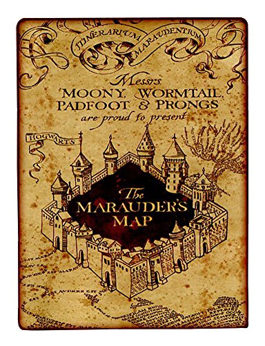 Northwest Fleece Soft Blanket (Northwest Company Harry Potter Marauder's Map Oversize 60