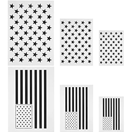 photo about Printable American Flag Star Stencil known as : Nifera Star Stencil Template Reusable American