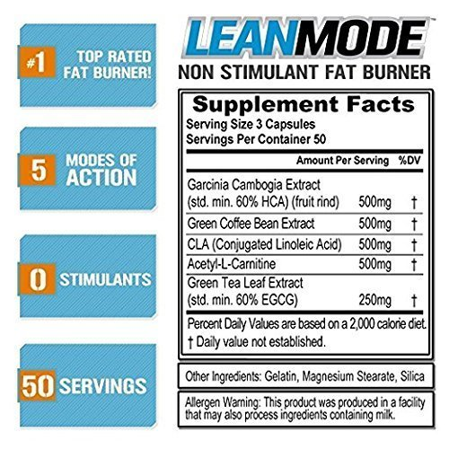 Evlution Nutrition Lean Mode Stimulant-Free Weight Loss Support with Garcinia Cambogia, CLA and Green Tea Leaf Extract (2-Pack) by Evlution (Image #2)