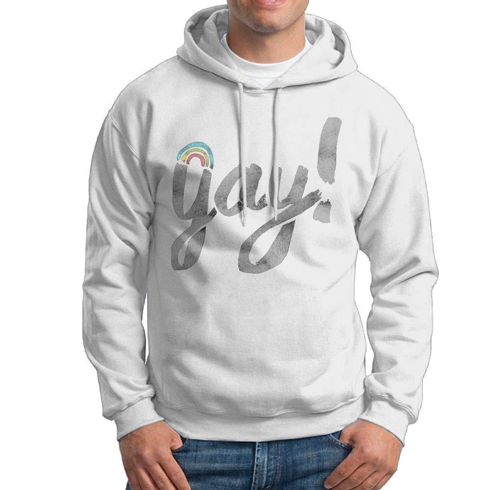 Kkajjhd Yay Gay Sweatshirt Autumn Winter Mens Long Sleeve Pullovers