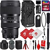 Sigma 50-100mm F1.8 Art DC HSM Lens for Nikon DSLR Cameras w/32gb Pro Photo and Travel Bundle