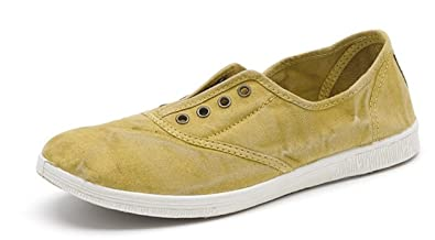 807855d5eea8f3 Image Unavailable. Image not available for. Colour  NATURAL WORLD ECO 612  LADIES WOMENS CANVAS LACE UP FLAT GYM SHOES SNEAKERS TRAINER ...