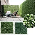 "Sunwing 6 Piece, Artificial Long Boxwood Hedge Privacy Screen White Color Outdoor Artificial Shrubs, 20"" L X 20"" H"