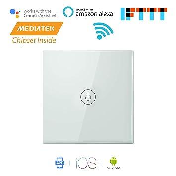 Meross WLAN Smart Lichtschalter WiFi Funk Touchscreen Wandschalter ...
