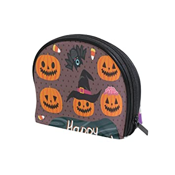 LORVIES Halloween Monster And Zombie Cosmetic Pouch Clutch Makeup Bag Travel Organizer Case Toiletry Pouch for