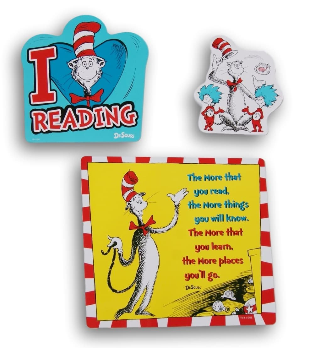 Amazon.com: Dr. Seuss Themed Reading Room Decor - 3 Piece: Home ...