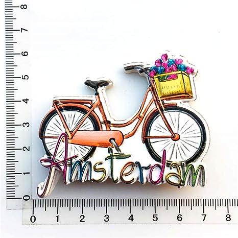 Weekino Bicicleta Amsterdam Países Bajos Imán de Nevera 3D Resina ...