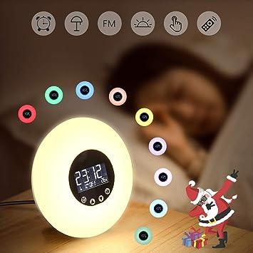 De Coucher réveil Lumière Simulation Lampe Soleil Réveil Chevet OZuPiwkXT