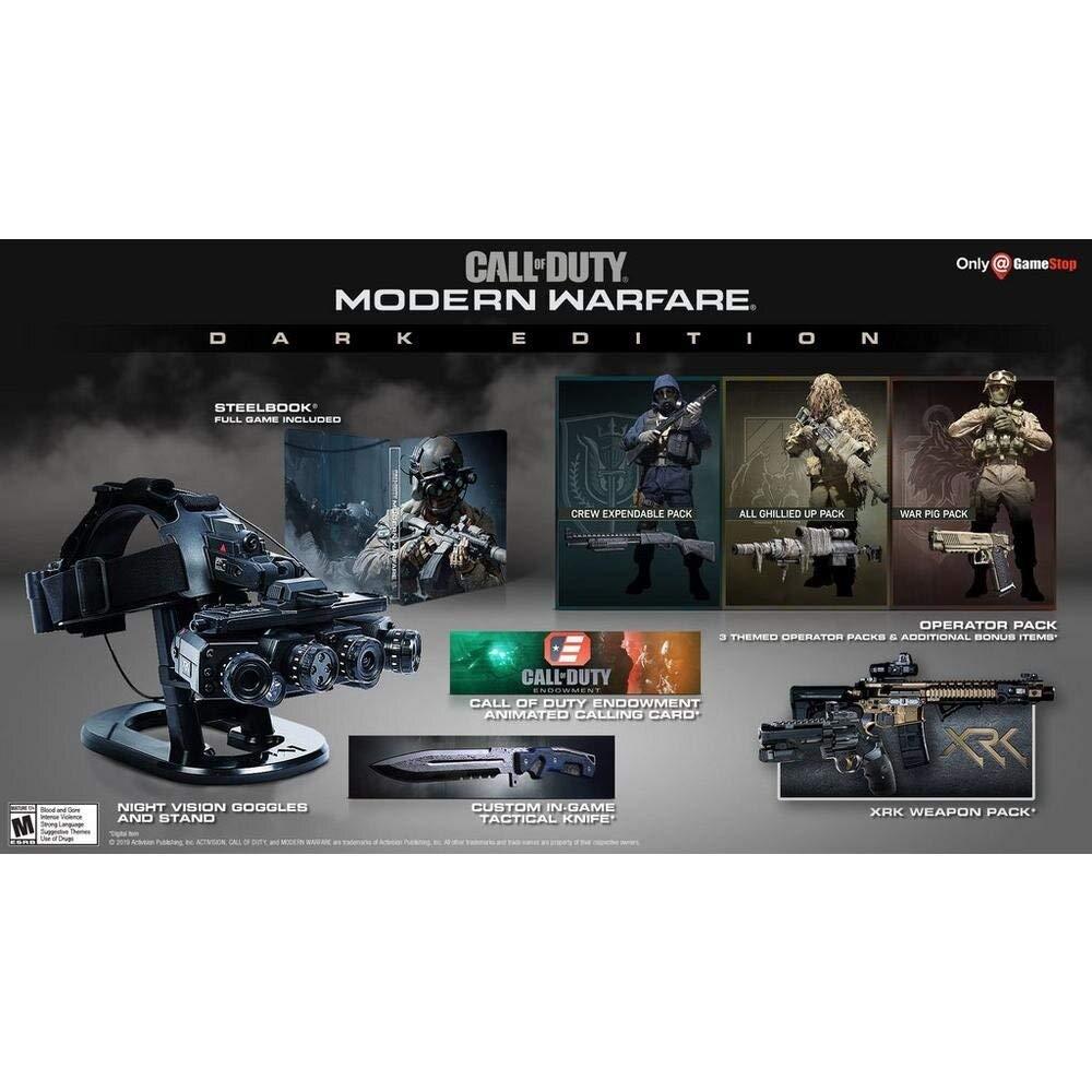 Amazon Com Call Of Duty Modern Warfare Dark Edition