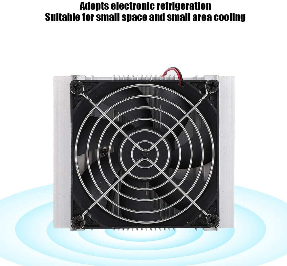 Wendry Semiconductor Cooler,12V10A 120W Stainless Steel Single Fan DIY Electronic Semiconductor Cooler Refrigeration System,Professional chip Sets,Precise incisions and interfaces