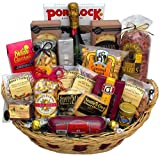 Winter Celebration Gift Basket with Martinelli's Sparking Apple Cider (non-alcoholic)