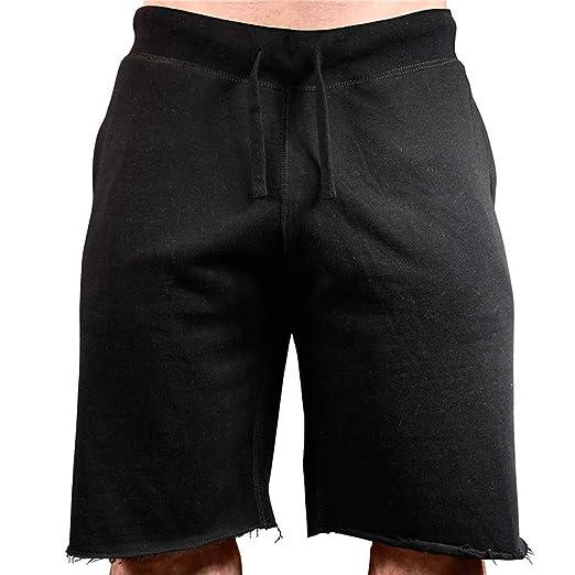 dc400a5ae96b90 Caopixx Men Casual Loose Beach Work Casual Sports Jogging Elasticated Waist  Shorts Trouser Pants Black