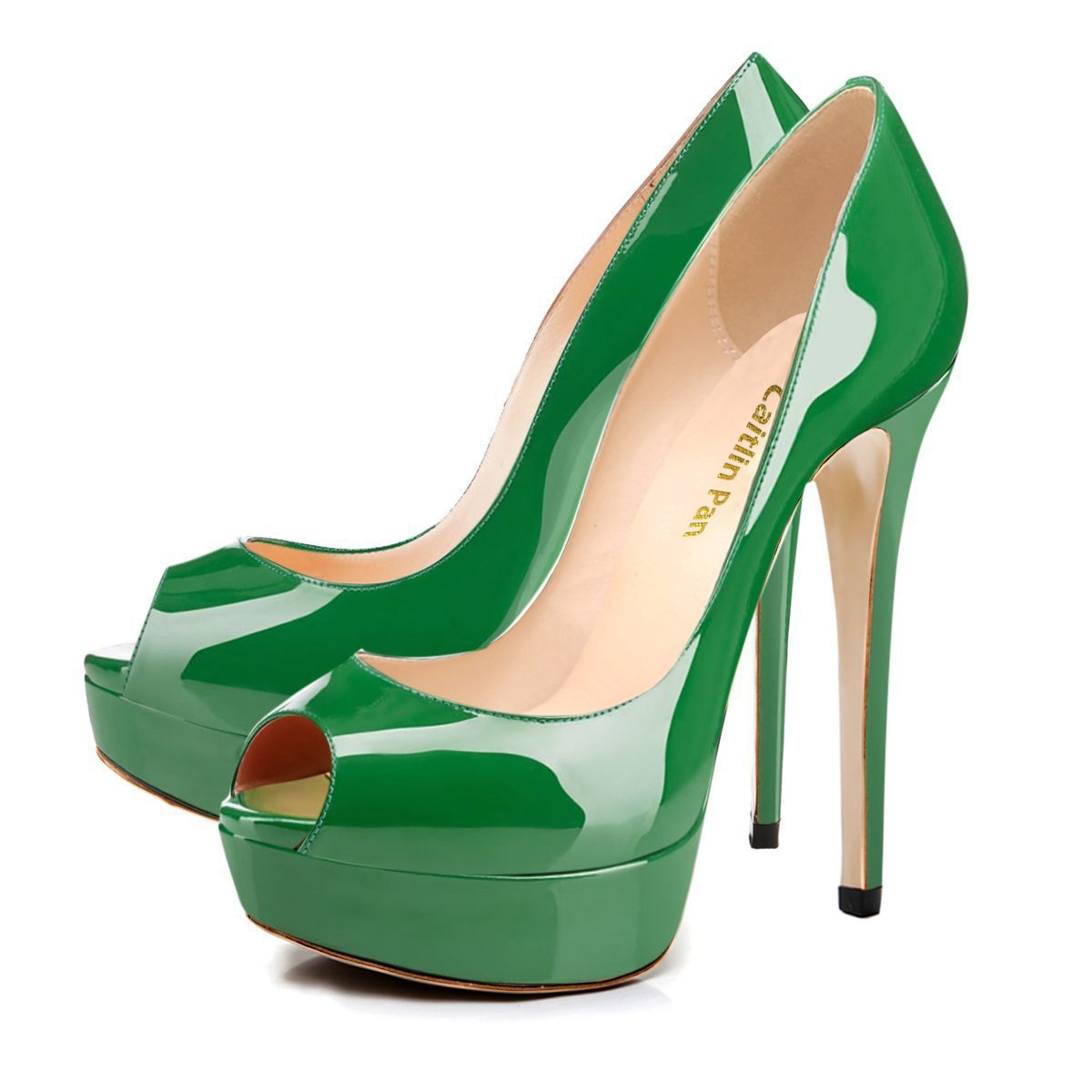 Caitlin Pan Femmes Escarpins Plateforme Green/Fond 15CM Escarpins Peep 35-45 Peep Toe 3CM Plateforme Talon Chaussures Open Toe 35-45 Green/Fond R0uge b9009e7 - conorscully.space