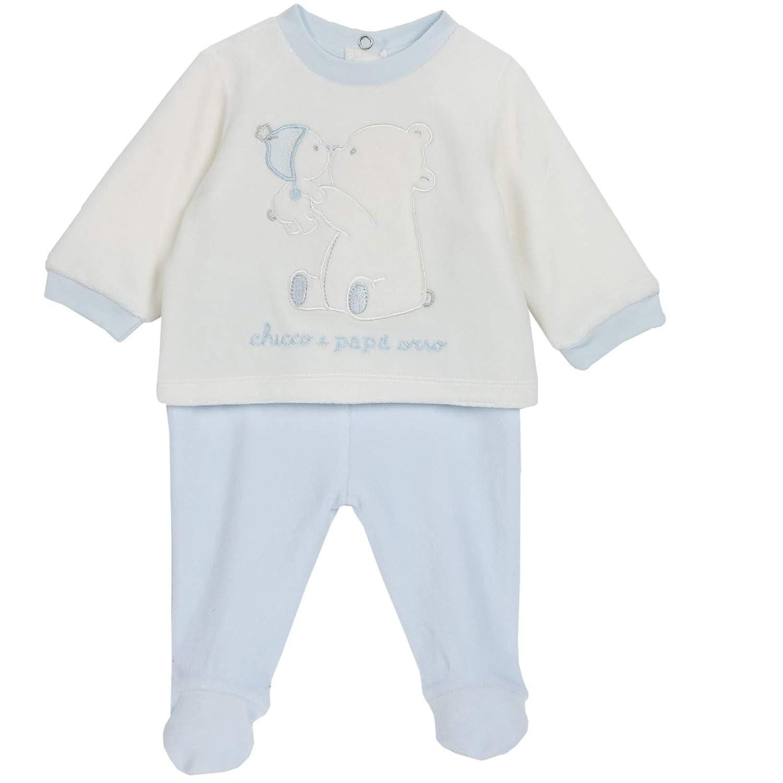 Chicco - Set coprifasce e ghettina in ciniglia, Neonato e neonata