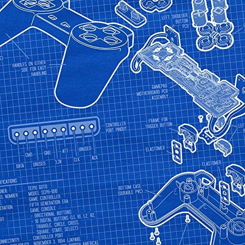 style3 PS1 Controlador Cianotipo Camiseta Para Mujer T-Shirt Videojuego videoconsola Classic Gamer: Amazon.es: Ropa y accesorios