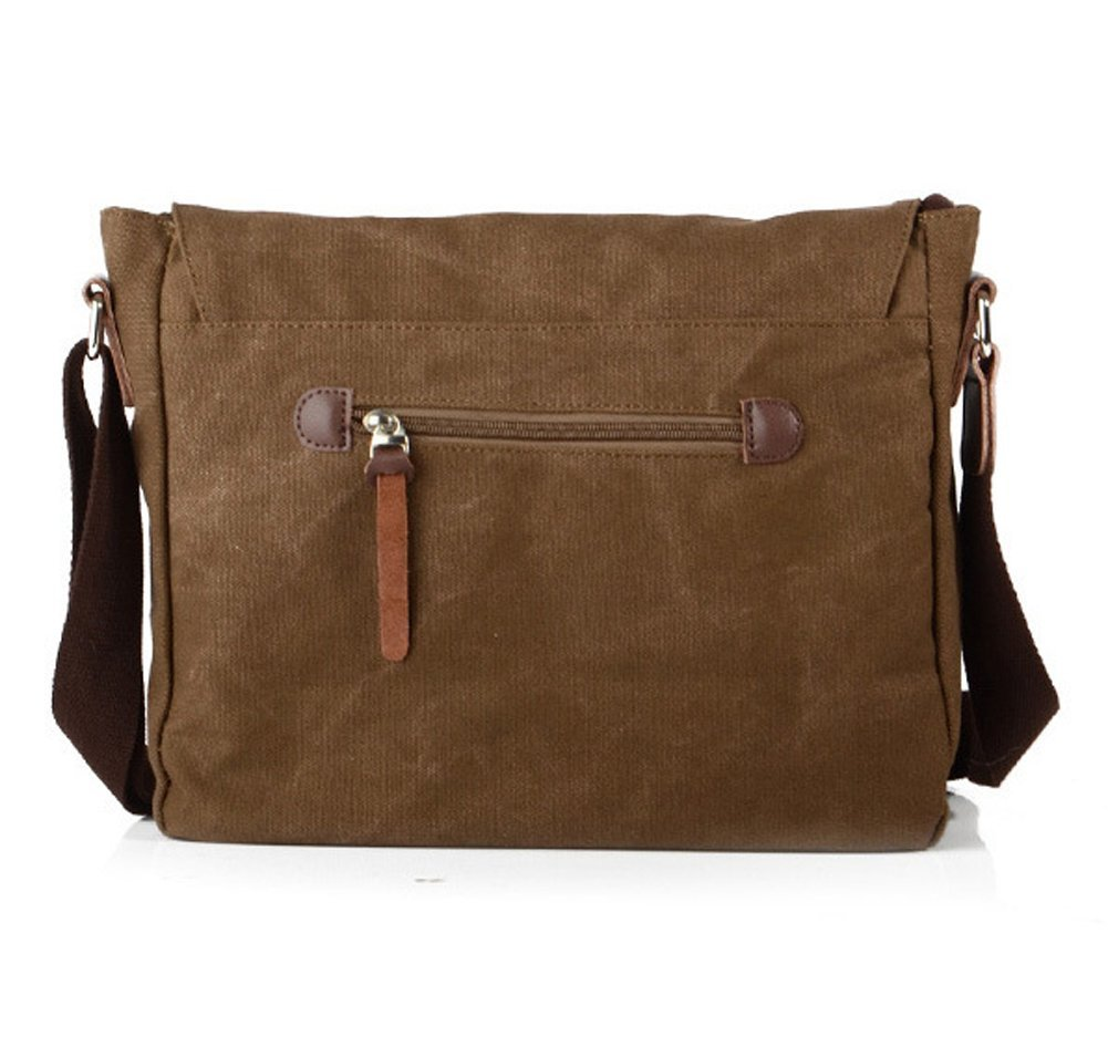 Lalagen Cotton Canvas Retro Field Small Messenger Bag Coffee by Lalagen (Image #2)