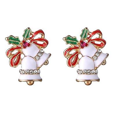 Cdet Pendiente Preciosos aretes de Navidad Ropa con Accesorios para Mujer,Campanas: Hogar