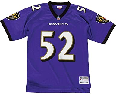 Amazon Com Ray Lewis Baltimore Ravens Mitchell And Ness Men S Purple Throwback Jersey Clothing