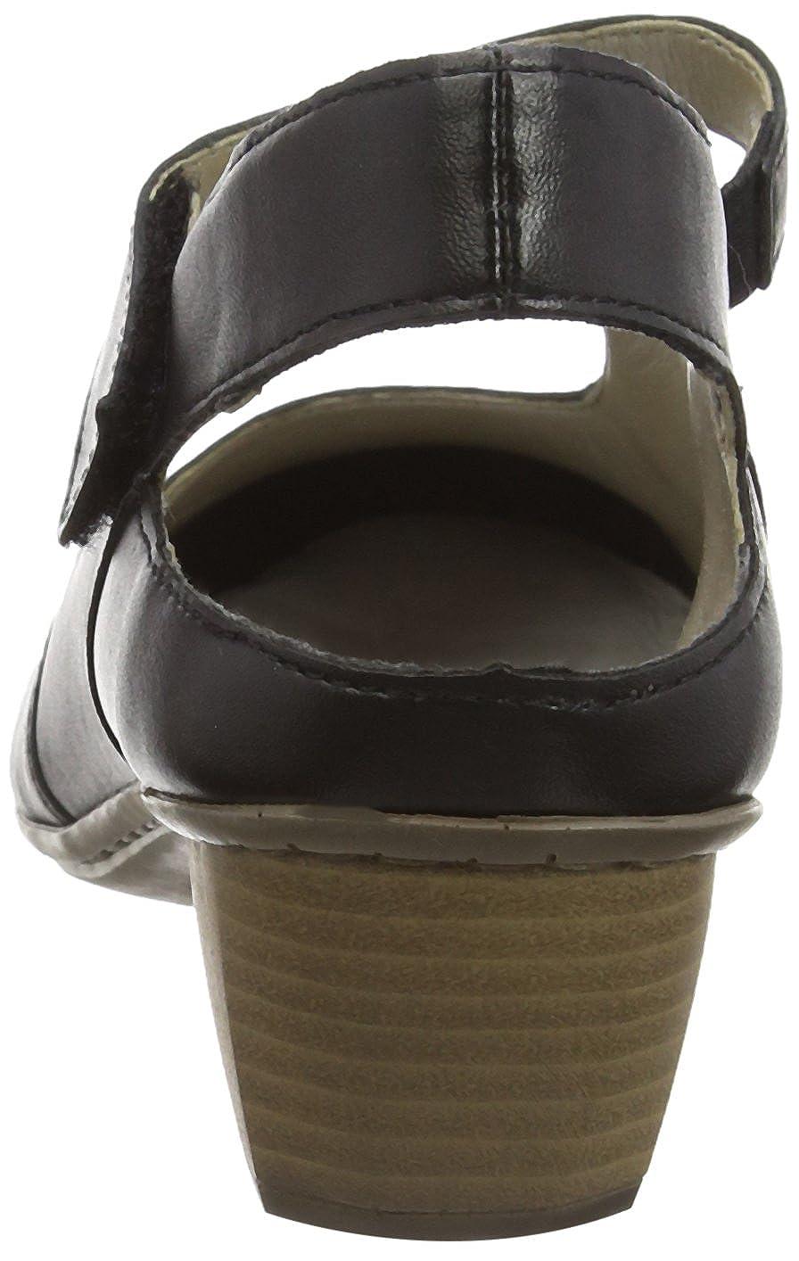Rieker Tacco 41779, Scarpe col Tacco Rieker con Cinturino a T Donna  Nero (Nero/Schwarz / 00) 4b2e90