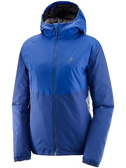 Salomon Essential Insulated JKT W - Chaqueta, Mujer, Azul ...