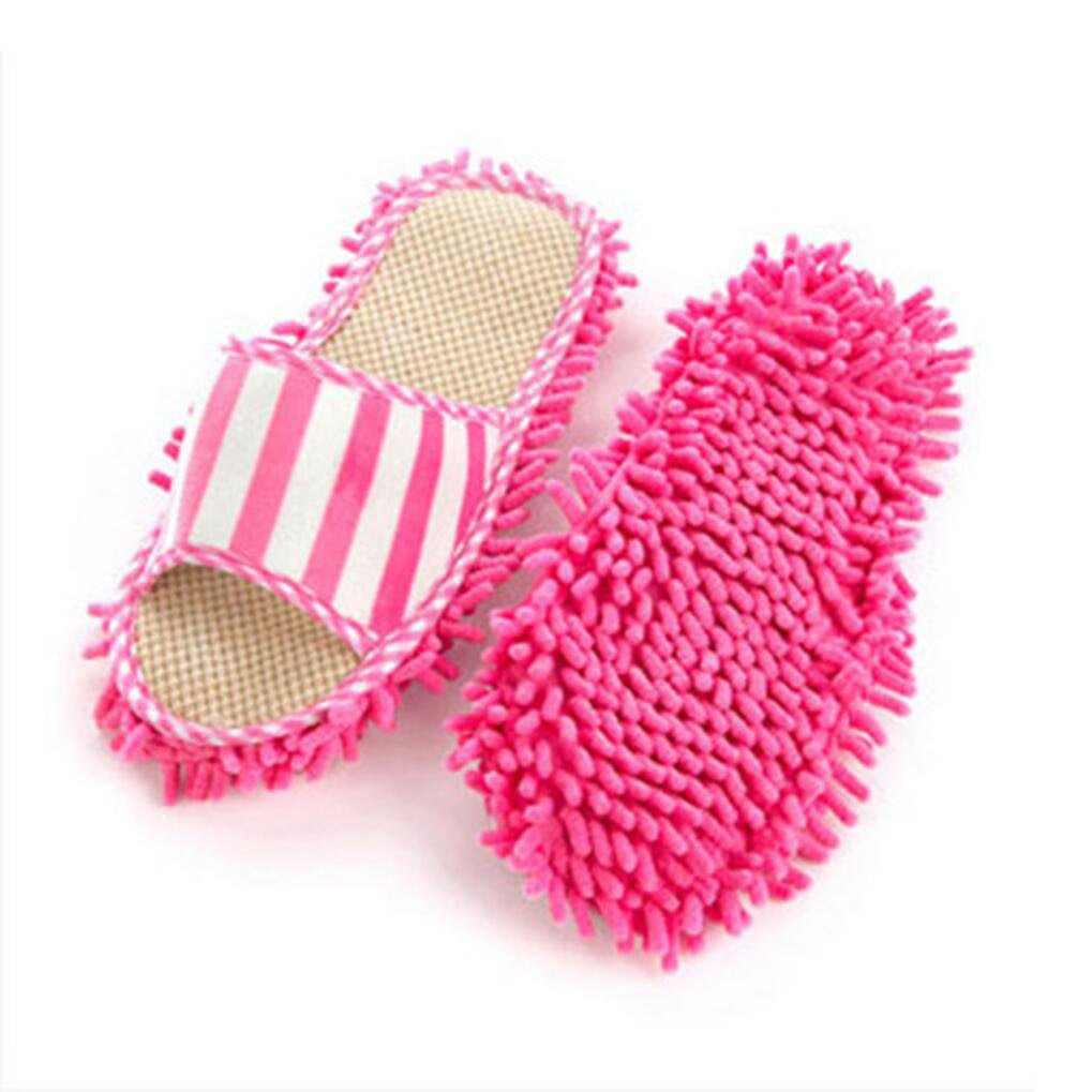 0a76b77a0f2fab Aohro 1 Pair Women Dust Mop Slippers Washable Summer  Amazon.co.uk   Electronics