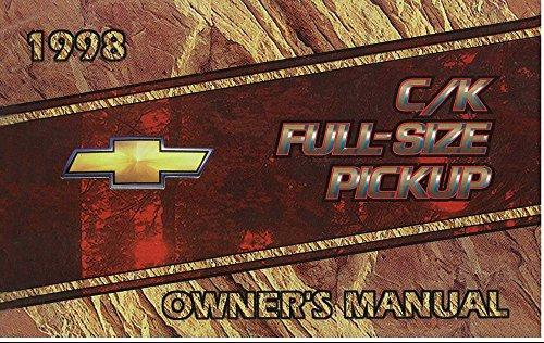 bishko automotive literature 1998 Chevrolet C K Pickup Truck Owners Manual User Guide Reference Operator ()