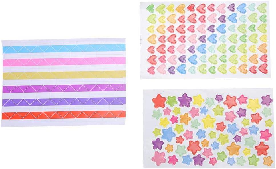 Photo Album Stickers Accessories Photo Corners Stickers Paper Edge Scissor Sticky Adhesive Lace Tape Template Stencils Gift Scrapbook Accessories Kit Multicolored