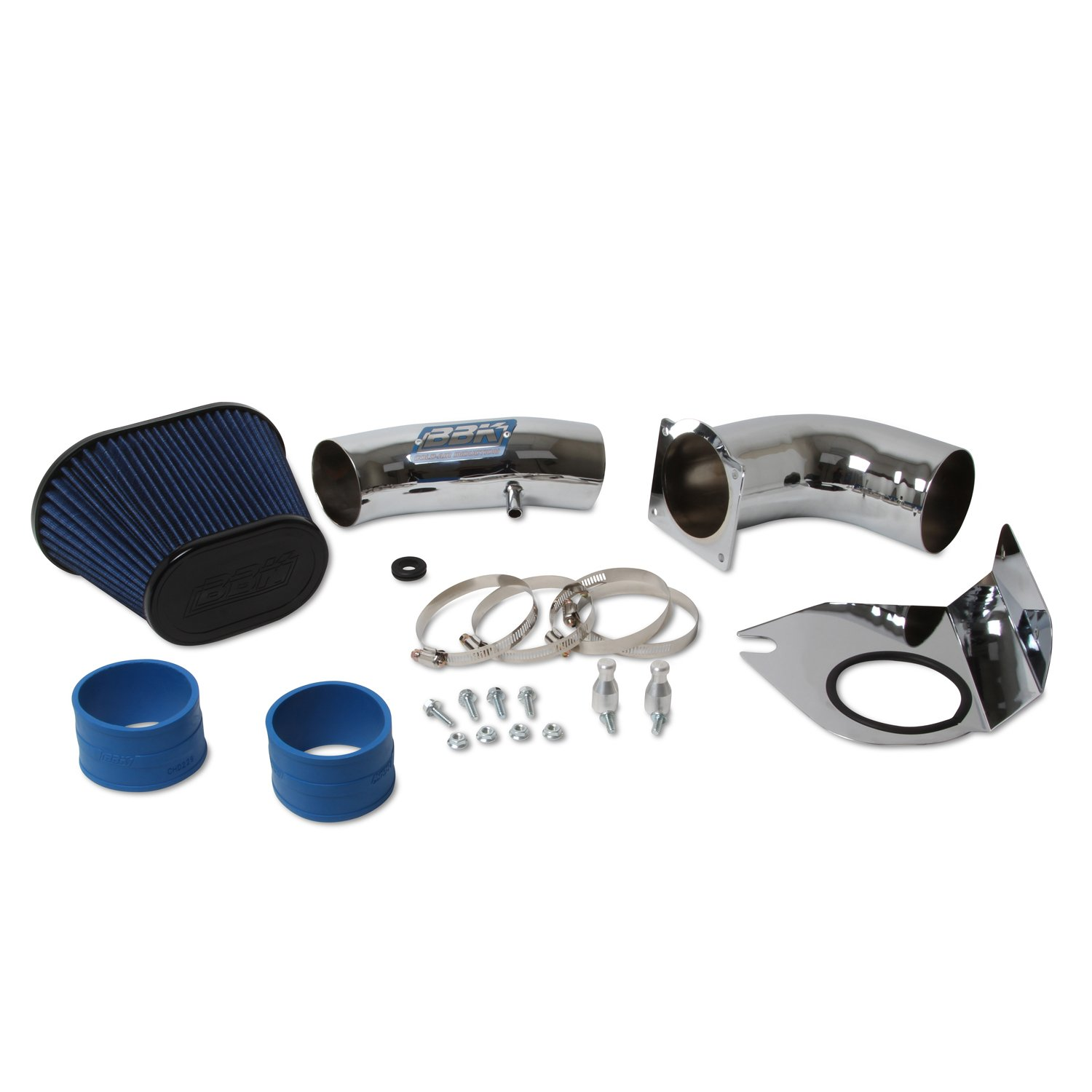 BBK 1712 Cold Air Intake System Power Plus Series Performance Kit For Ford Mustang 5.0L Fenderwell Style Chrome Finish