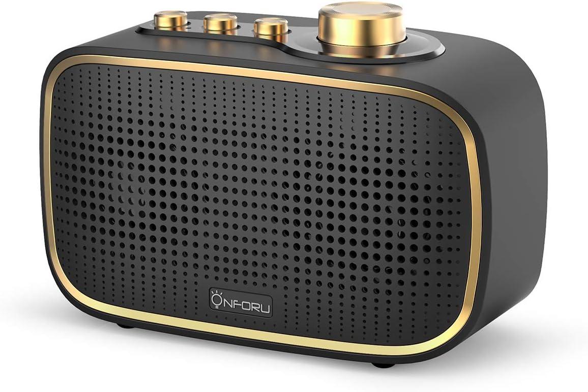 Onforu Retro Bluetooth Speaker, 20W Vintage Wireless Speaker with Loud Stereo Sound, Bluetooth 5.0 Indoor Speaker for Bedroom, Living Room and Home, IPX5 Waterproof Shower Speaker for Bathroom