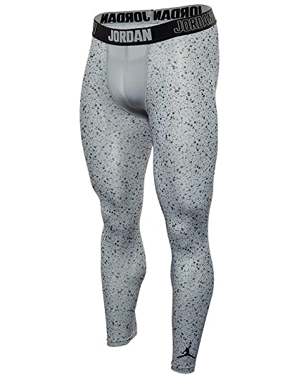 Nike Jordan Compression Printed Three-Quarter Training Tights Boys Wolf Grey