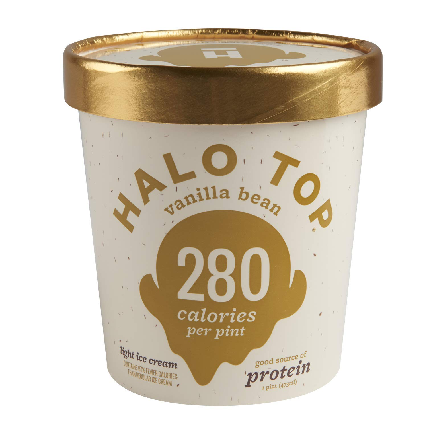 Halo Top Light Ice Cream, Vanilla Bean, 16 oz (Frozen)