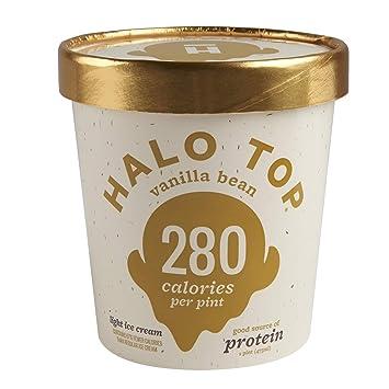 Halo Top Light Ice Cream Vanilla Bean 16 Oz Frozen Amazon